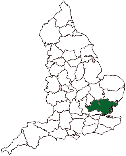 County map of UK